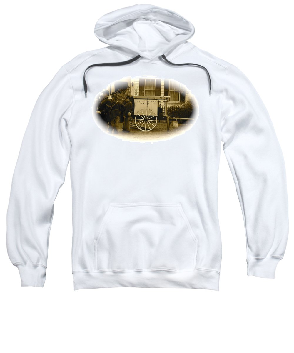 Cival War Sweatshirt featuring the photograph 1863 Cival War Camera by Robert Pearson