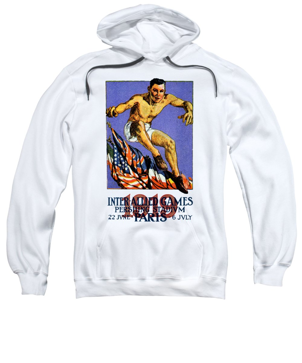 Historicimage Sweatshirt featuring the painting 1919 Allied Games Poster by Historic Image