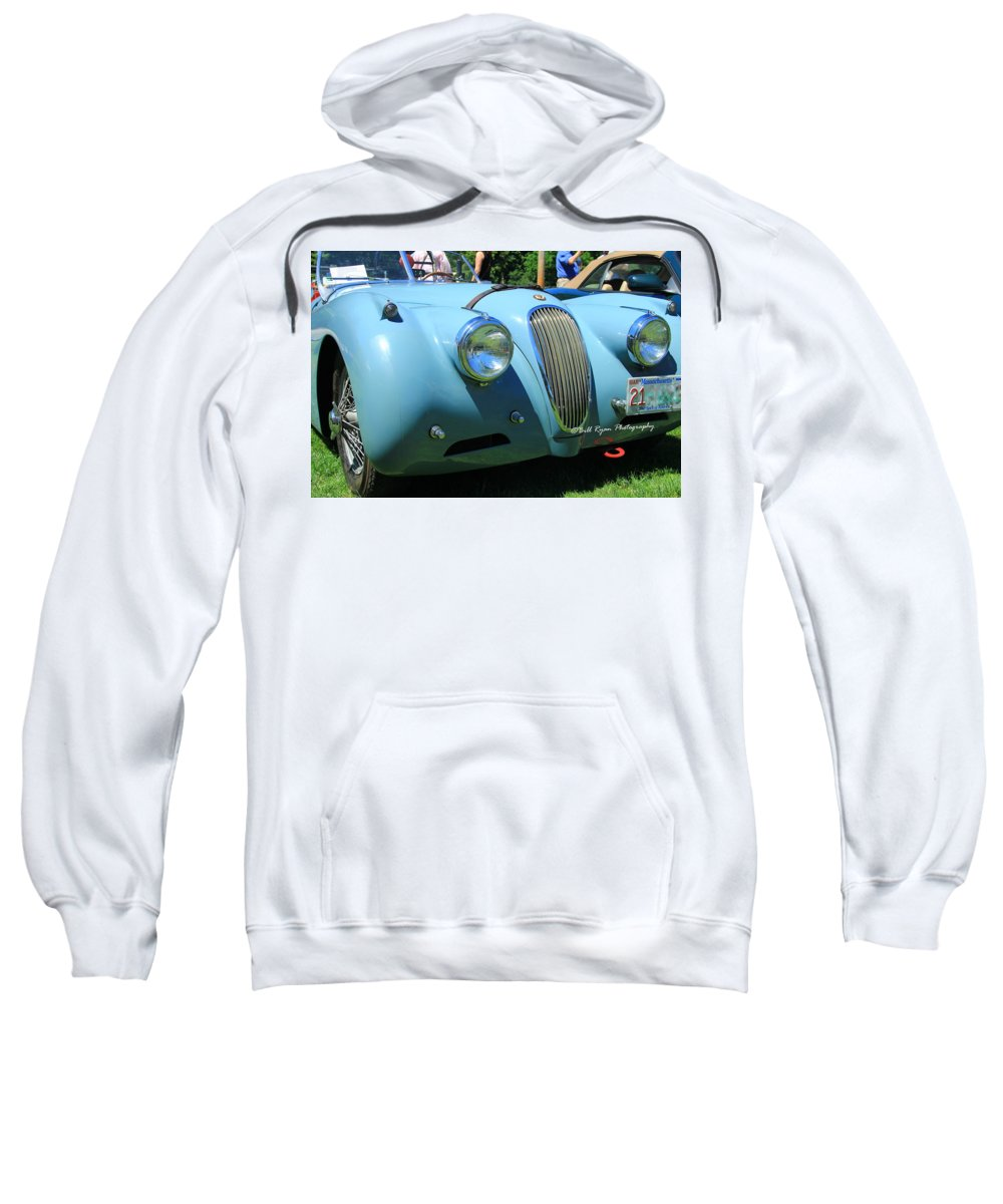 Jaguar Xk Sweatshirt featuring the photograph 1954 Jaguar Xk by Bill Ryan