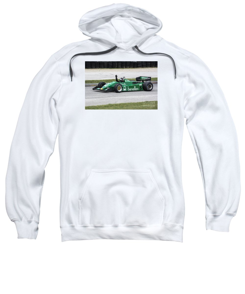 Automobile Sweatshirt featuring the photograph 1983 Tyrrell 011 F1 At Road America by Tad Gage