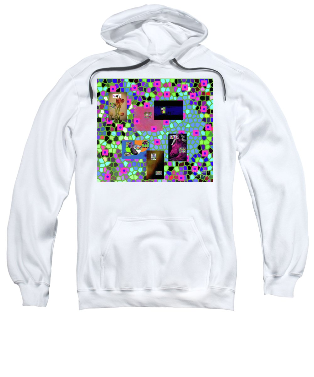 Walter Paul Bebirian Sweatshirt featuring the digital art 2-9-2016babcdefghijklmnopqrtuvwxyzabcdefgh by Walter Paul Bebirian