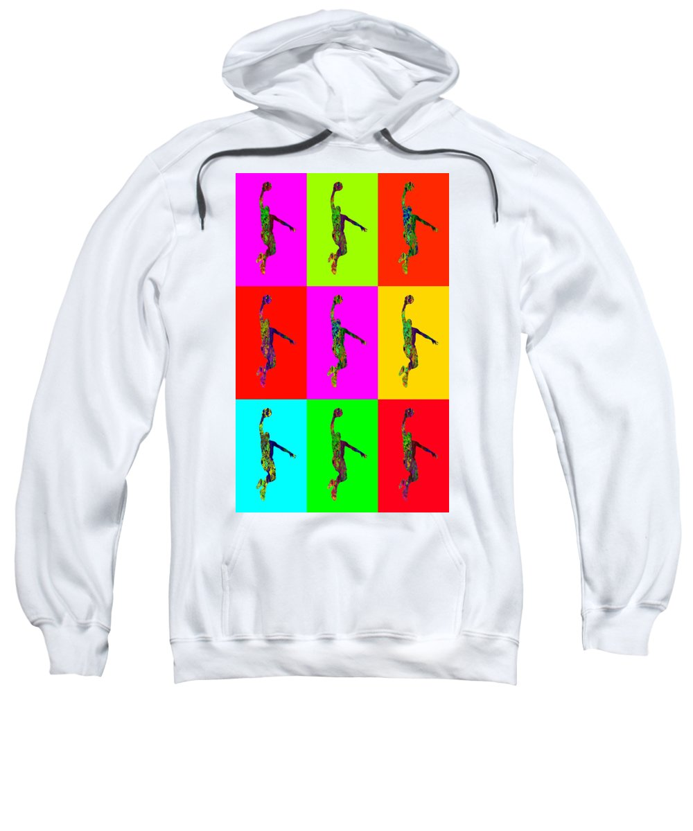 Sport Sweatshirt featuring the digital art Basketball Player by Elena Kosvincheva