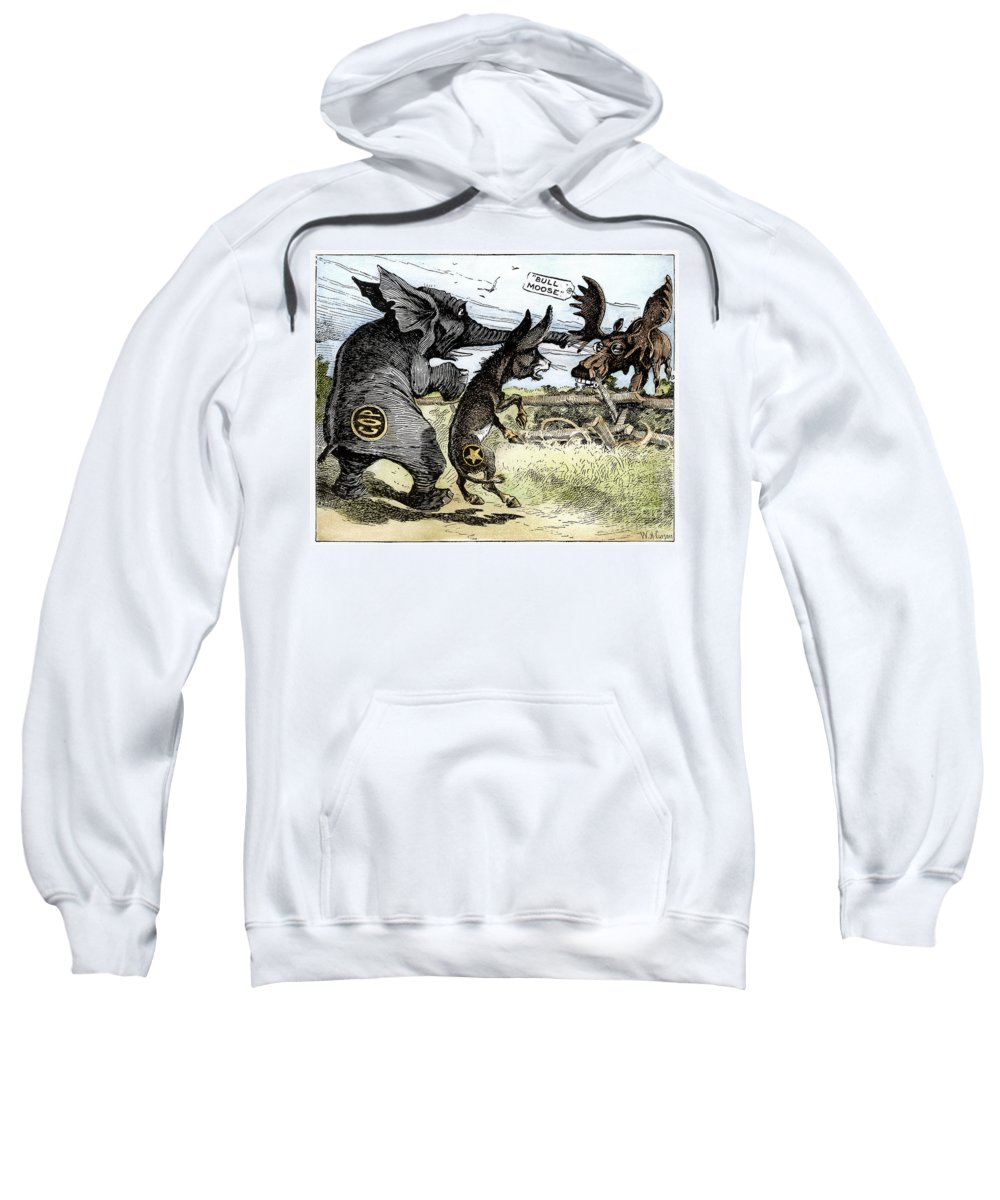 1912 Sweatshirt featuring the photograph Bull Moose Campaign, 1912 by Granger