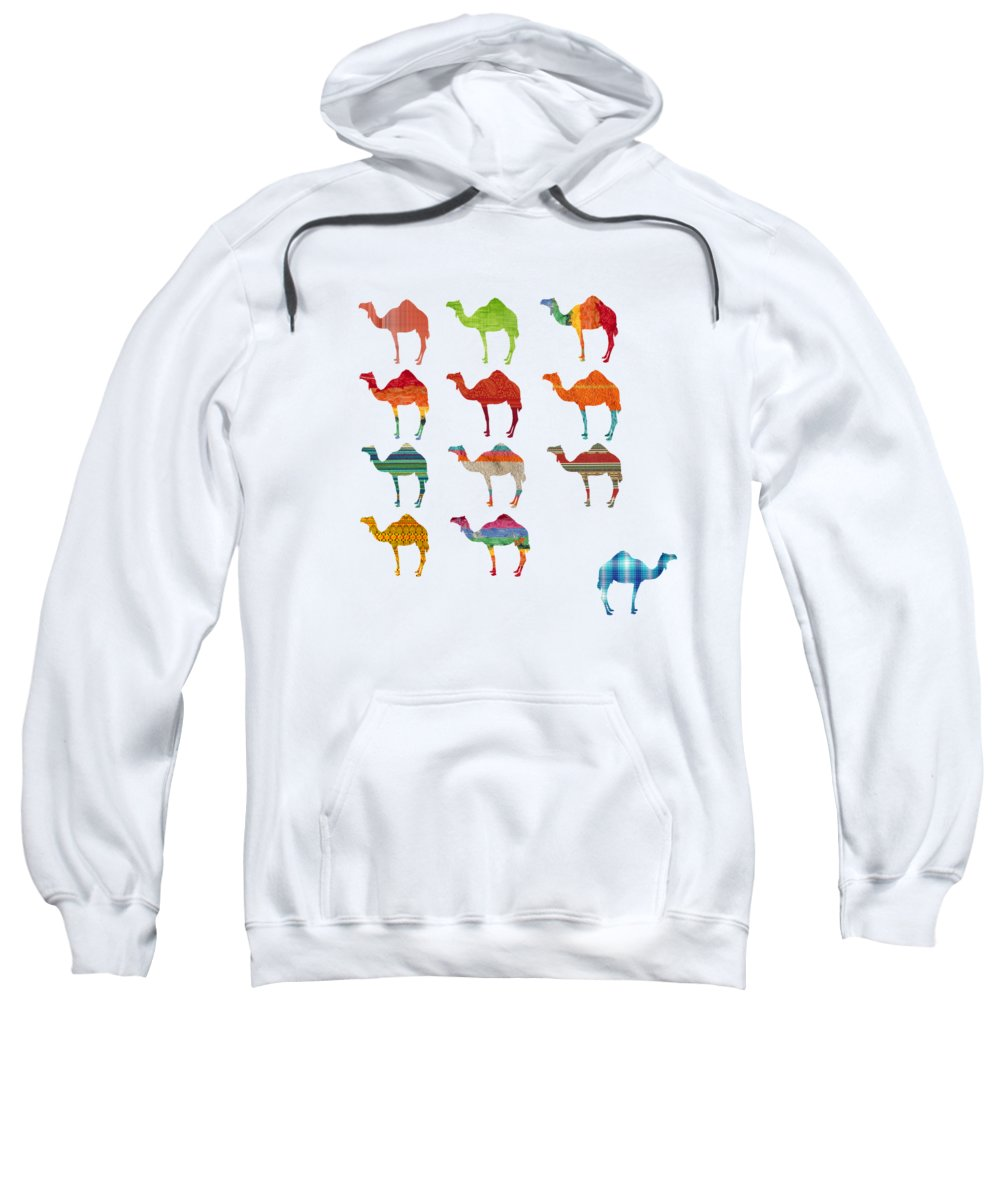 Camel Hooded Sweatshirts T-Shirts