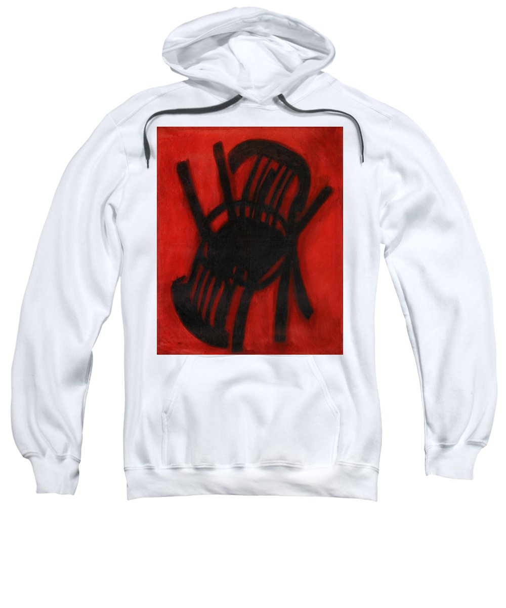 Still Life Sweatshirt featuring the painting Chair by Robert Nizamov