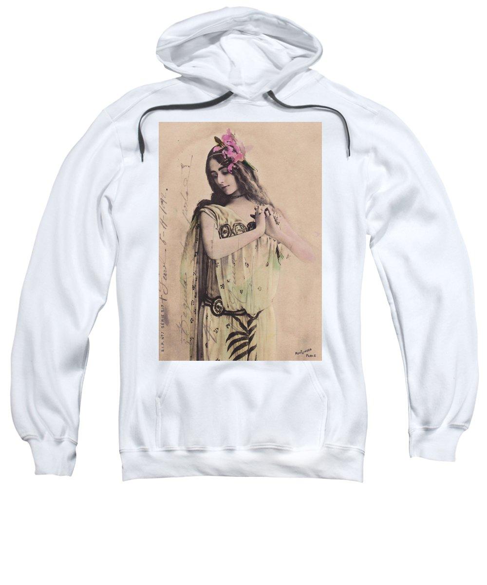Cleo De Merode Sweatshirt featuring the photograph Cleo De Merode by Not known