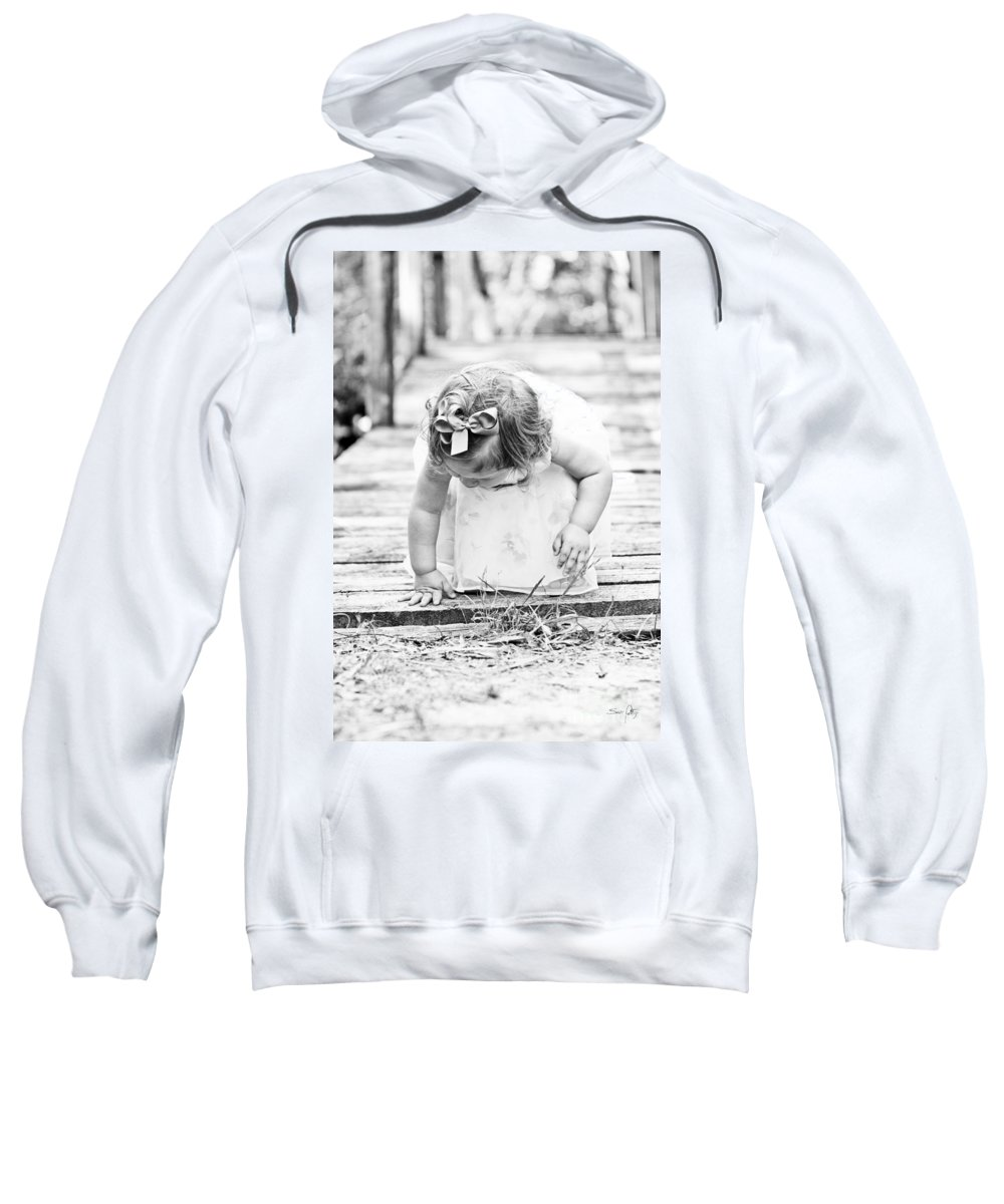 Child Sweatshirt featuring the photograph Discovery by Scott Pellegrin