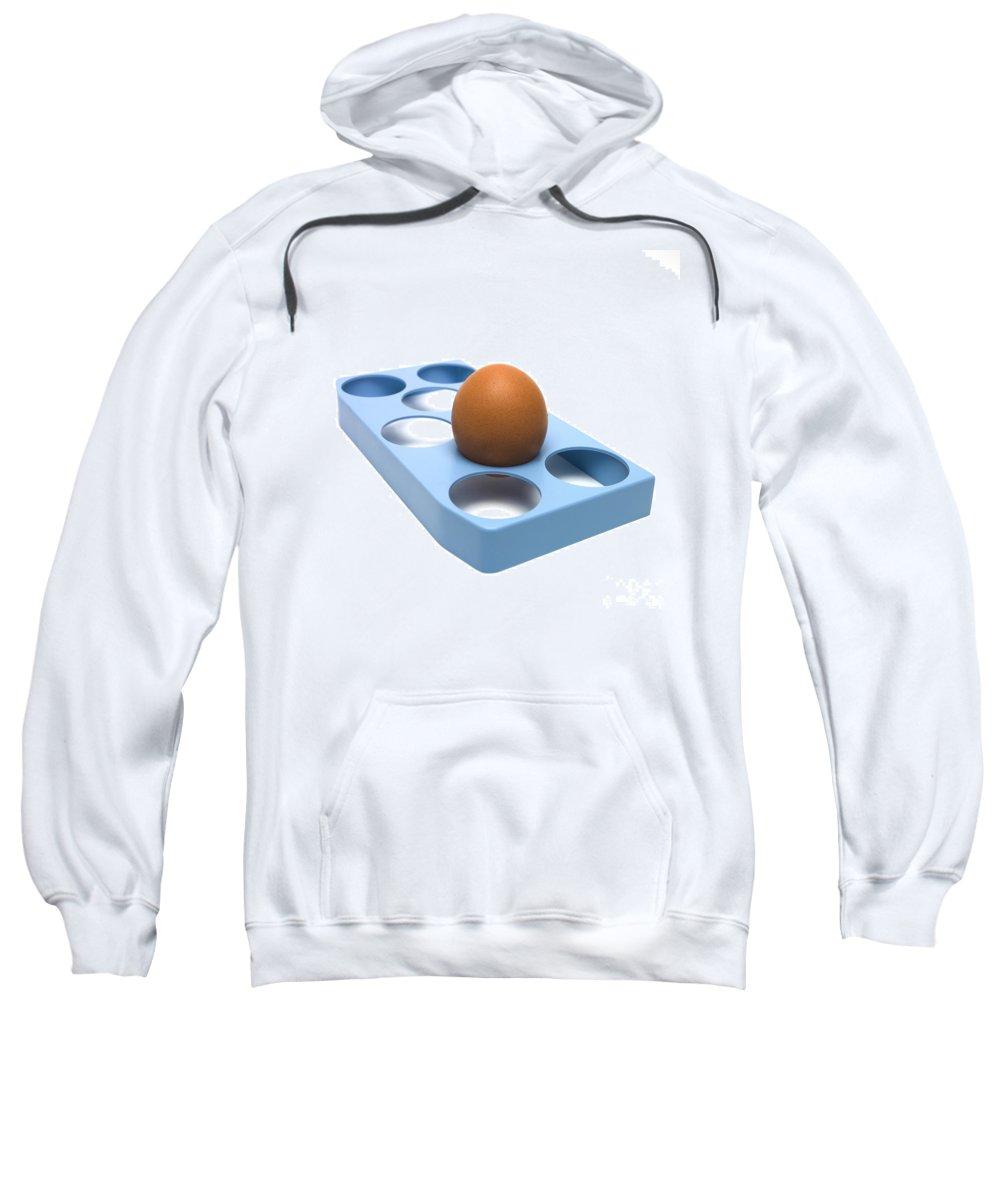 Studio Shot Sweatshirt featuring the photograph egg by Bernard Jaubert