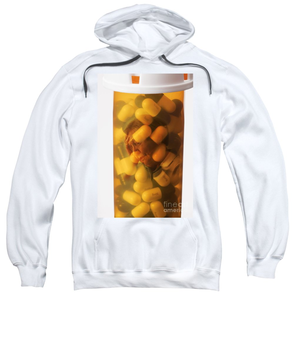 Concept Sweatshirt featuring the photograph Elderly Drug Use by George Mattei