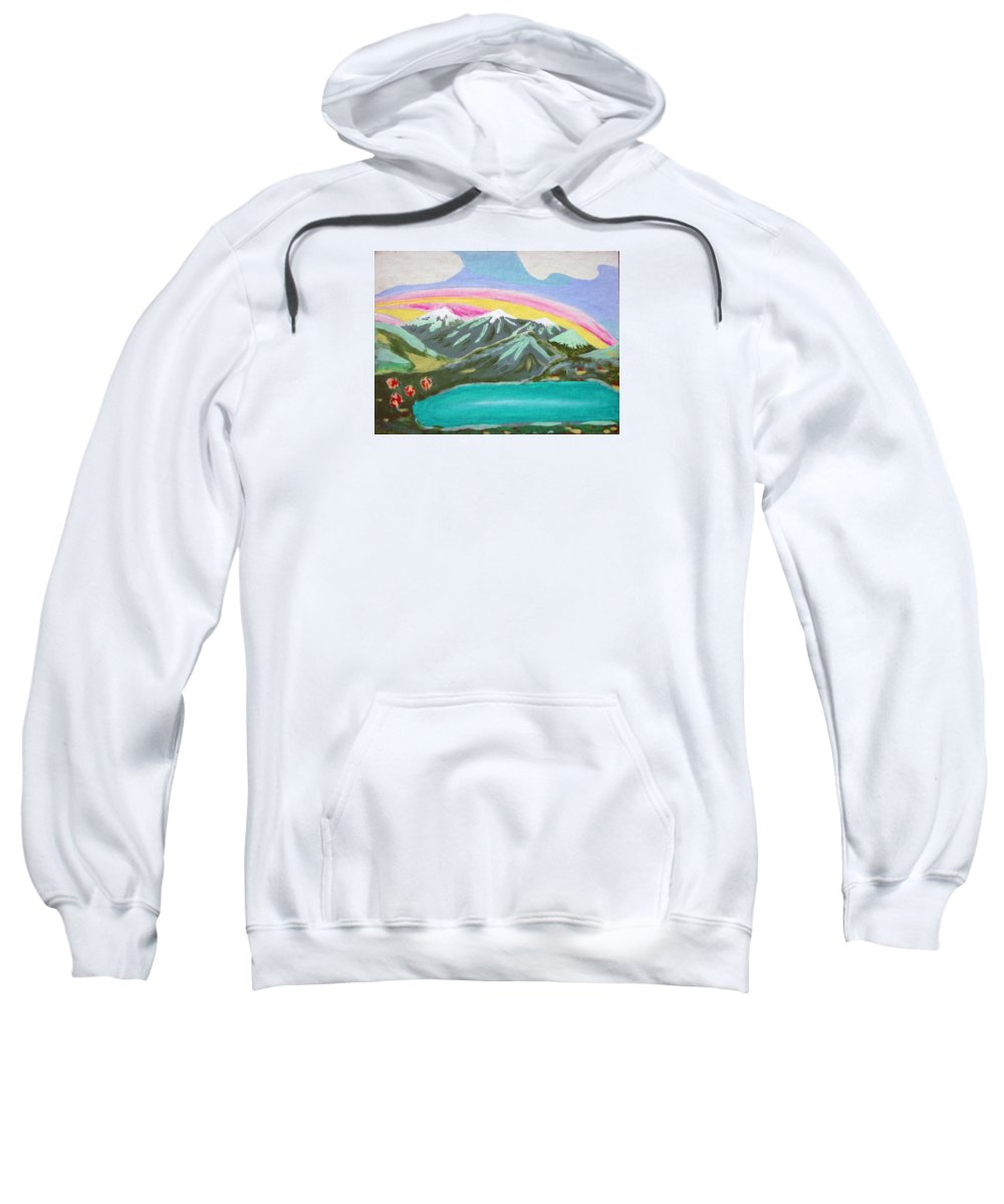 Impressionist Painting Sweatshirt featuring the painting From The Mountains To The Sea by J R Seymour