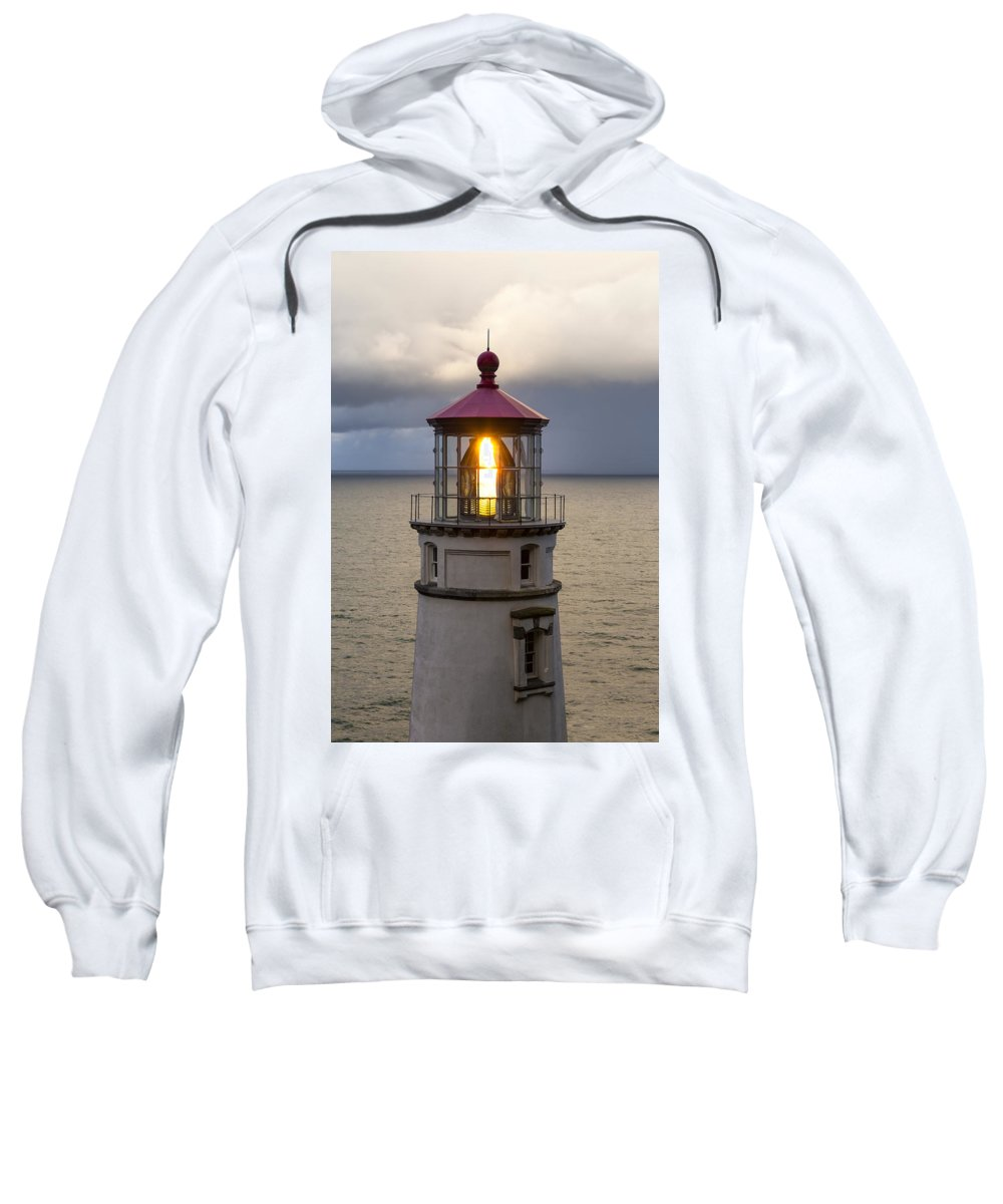 Heceta Head Sweatshirt featuring the photograph Heceta Head Lighthouse by Rick Pisio