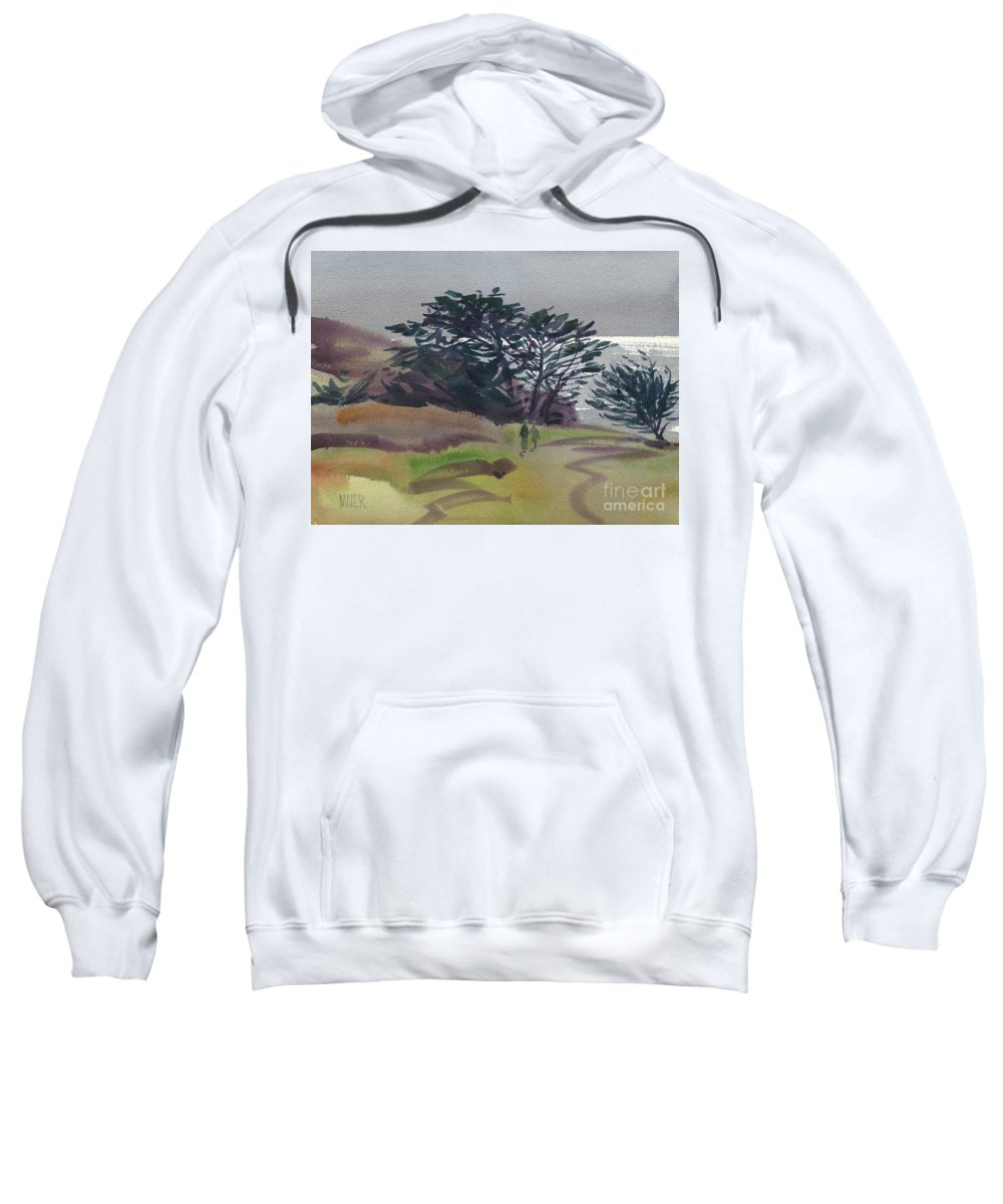 Plein Air Sweatshirt featuring the painting Miramonte Point 1 by Donald Maier