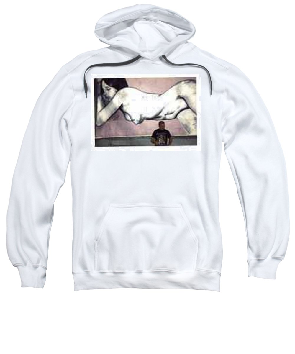 Nude Sweatshirt featuring the painting Missy by Thomas Valentine