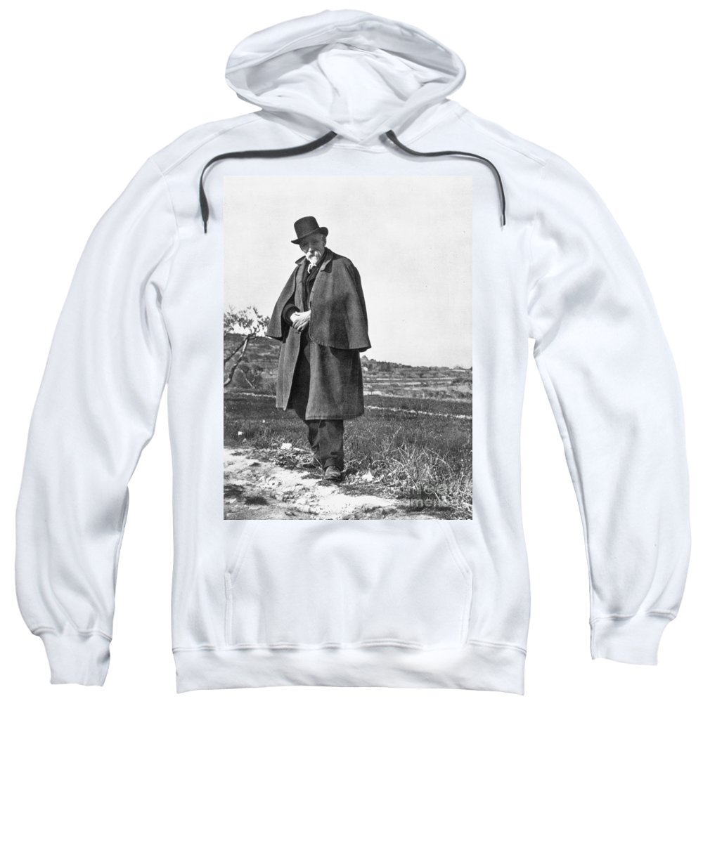 19th Century Sweatshirt featuring the photograph Paul Cezanne (1839-1906) by Granger