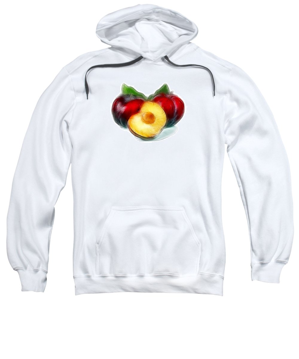 Plums Sweatshirt featuring the photograph Plums by Manfred Lutzius