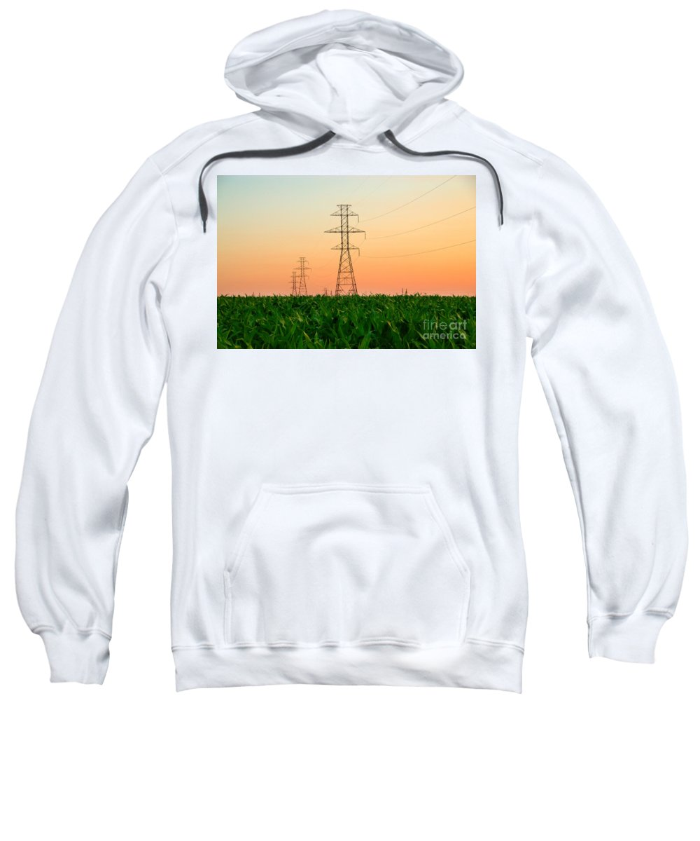 Lancaster Sweatshirt featuring the photograph Power Lines by George Mattei