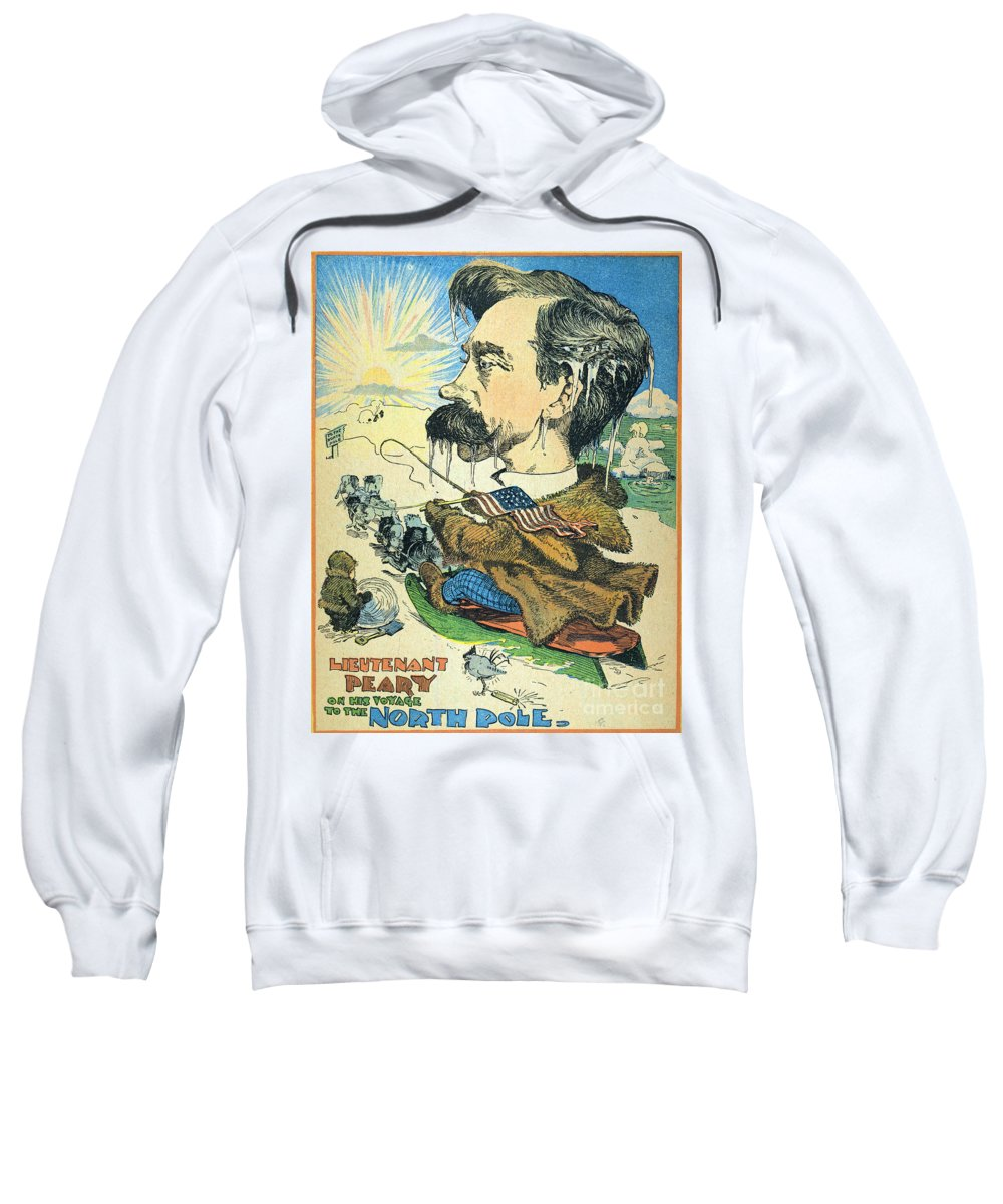 1902 Sweatshirt featuring the painting Robert Peary (1856-1920) by Granger