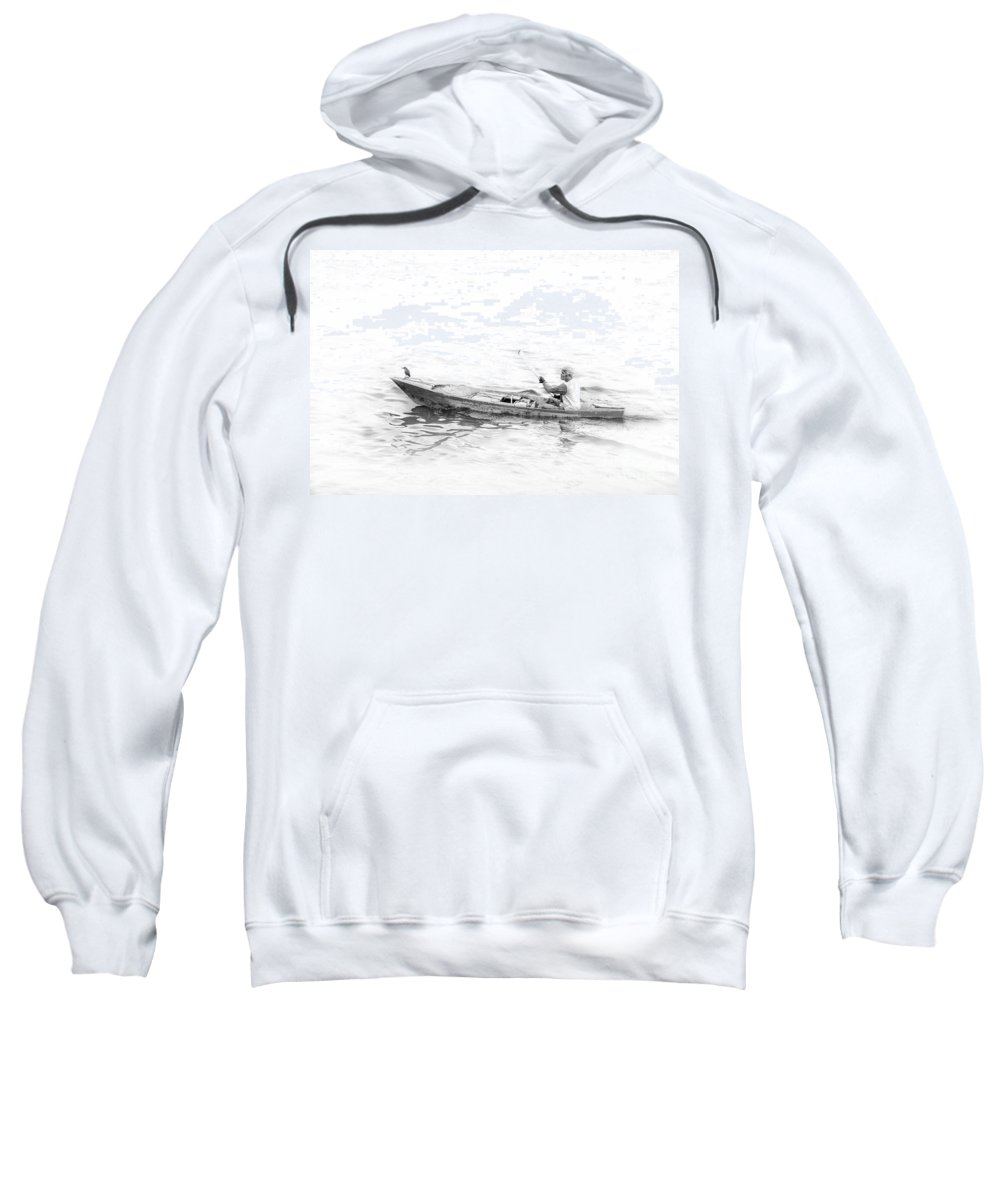 Sailing Sweatshirt featuring the photograph Sailing by Charuhas Images