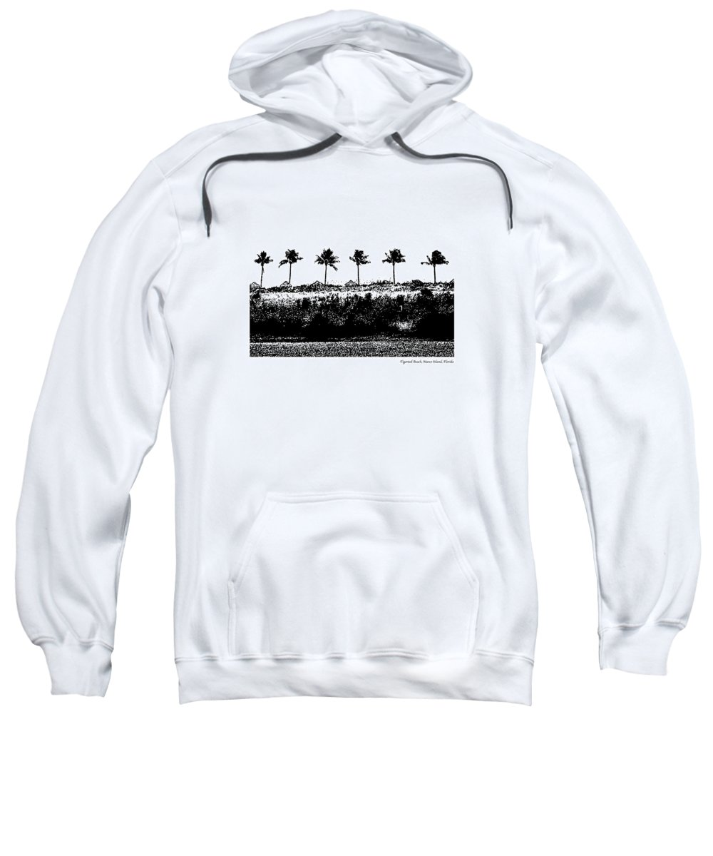 Beach Sweatshirt featuring the photograph Tiger Tail Beach by Laurie Paci