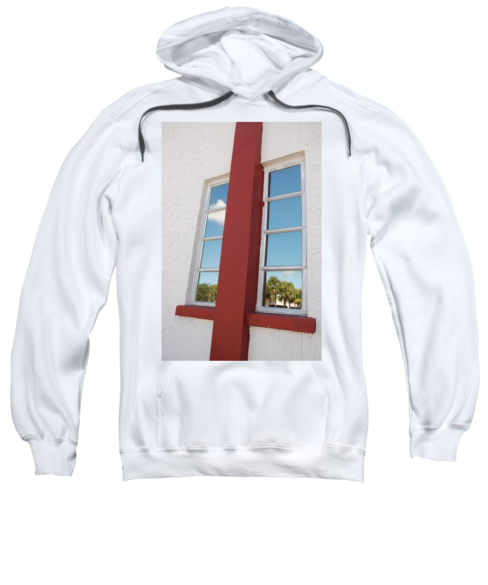 Sky Sweatshirt featuring the photograph Window T Glass by Rob Hans