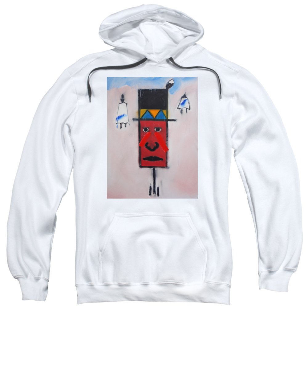 Native American Sweatshirt featuring the painting Winter by Charles Stuart
