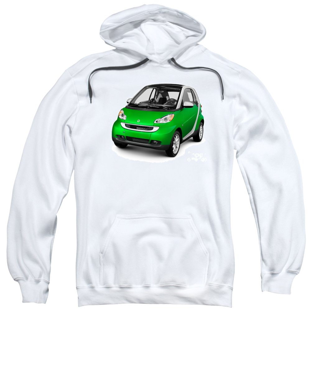 Smart Sweatshirt featuring the photograph 2008 Smart Fortwo City Car by Oleksiy Maksymenko
