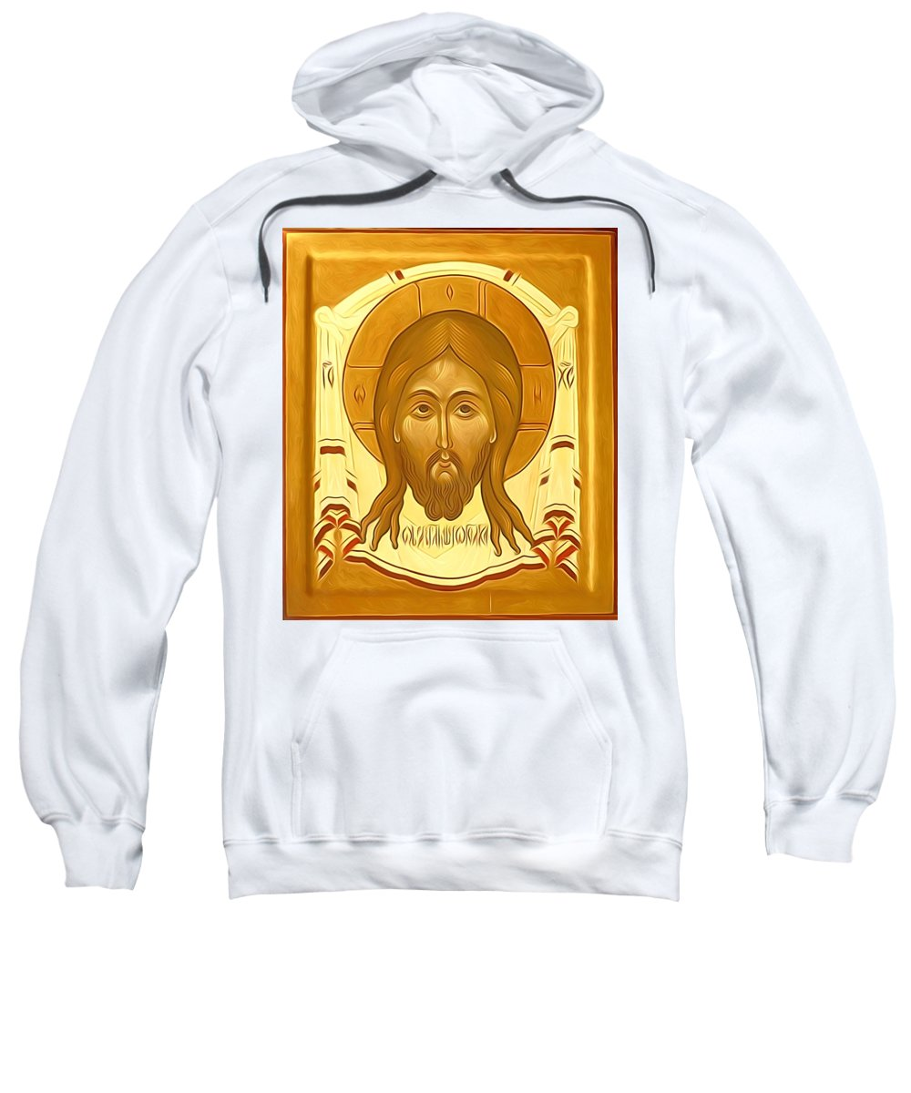 Jesus Sweatshirt featuring the digital art Jesus Christ Religious Art by Carol Jackson