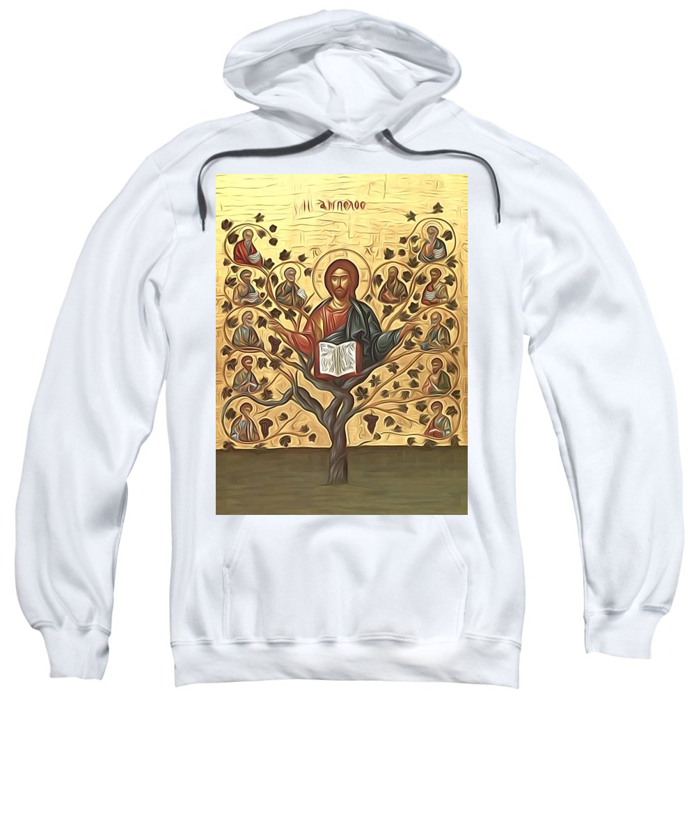 Jesus Sweatshirt featuring the digital art jesus Christ Son Of God by Carol Jackson