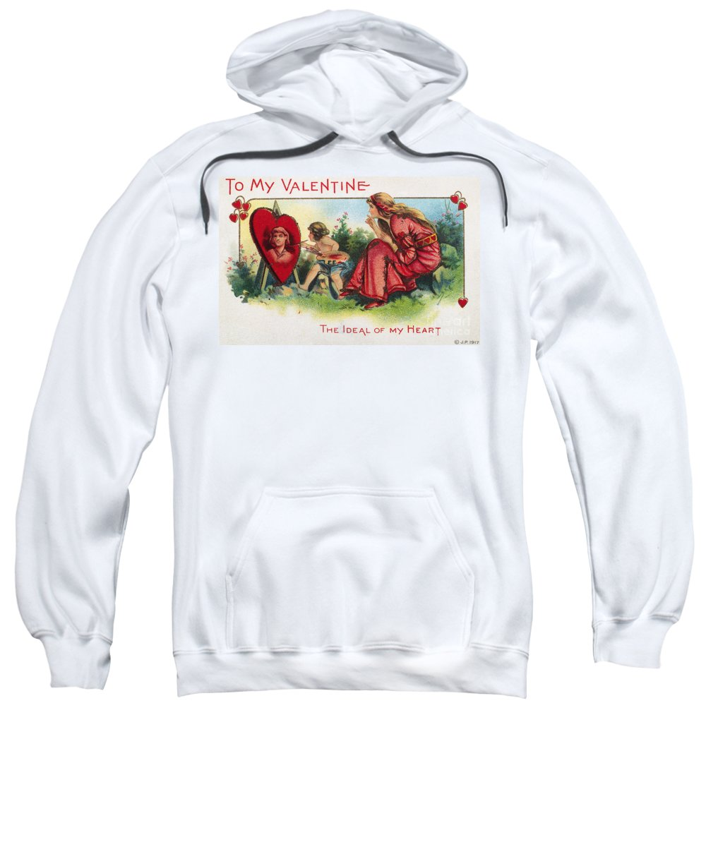 1917 Sweatshirt featuring the photograph Valentines Day Card by Granger