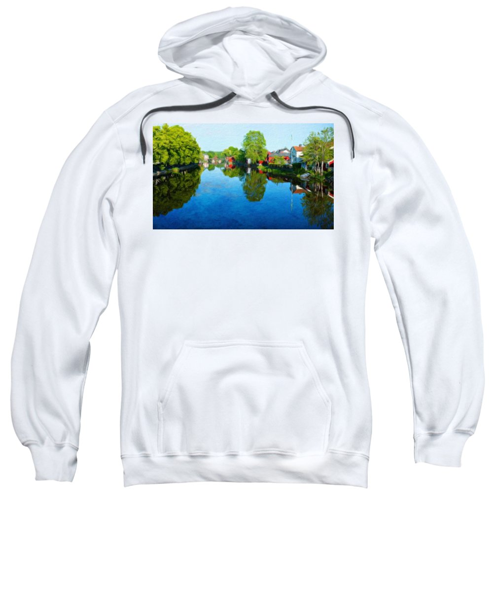 Landscape Sweatshirt featuring the painting Nature Art Landscape by World Map
