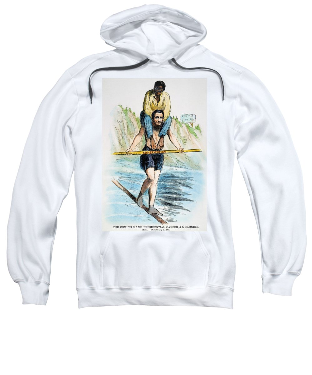 1860 Sweatshirt featuring the photograph Abraham Lincoln by Granger