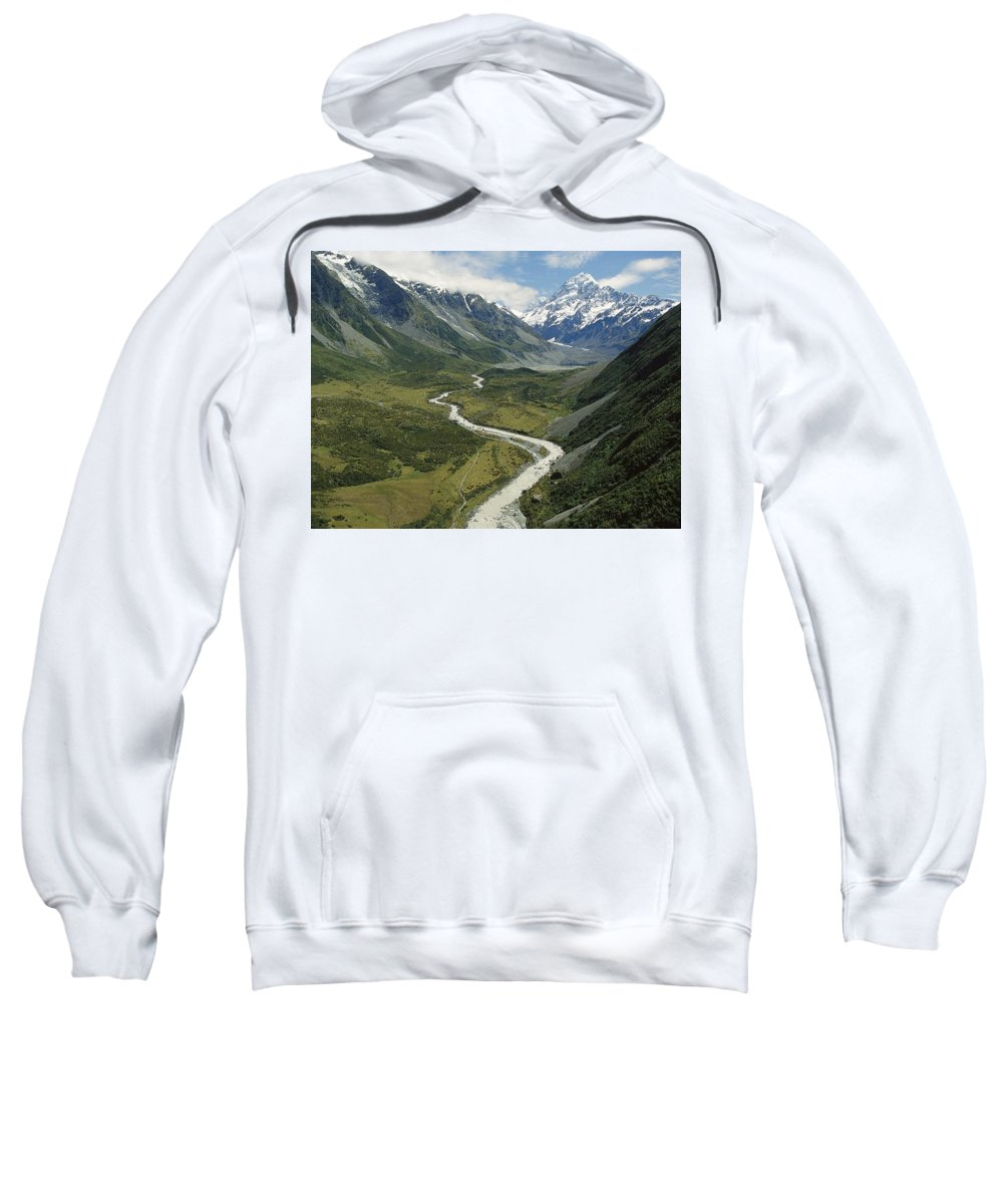 Mountain Sweatshirt featuring the digital art Mountain by Mery Moon
