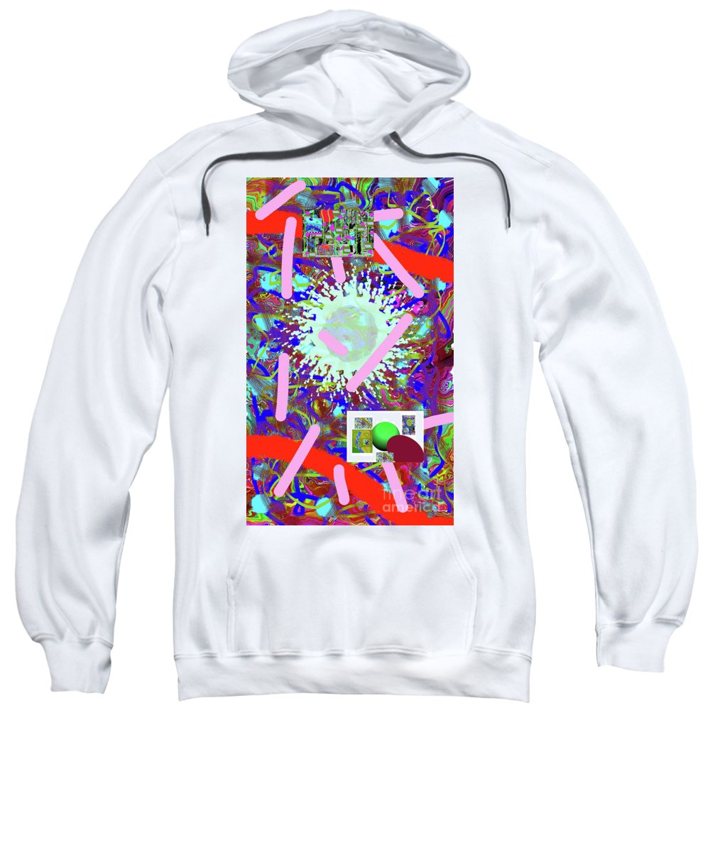 Walter Paul Bebirian Sweatshirt featuring the digital art 3-21-2015abcdefghijklmnop by Walter Paul Bebirian