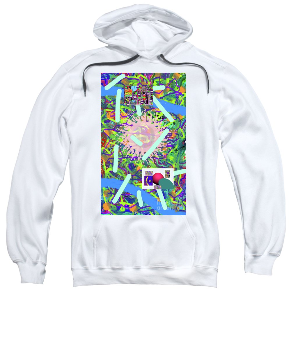 Walter Paul Bebirian Sweatshirt featuring the digital art 3-21-2015abcdefghijklmnopqrtuvwxyzabcdefg by Walter Paul Bebirian