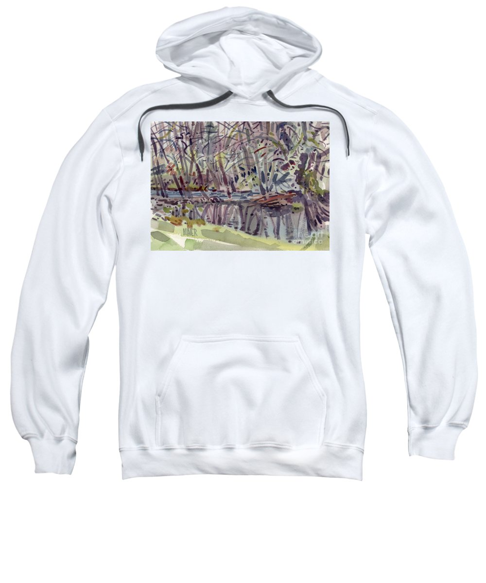Plein Air Sweatshirt featuring the painting Alder Creek by Donald Maier