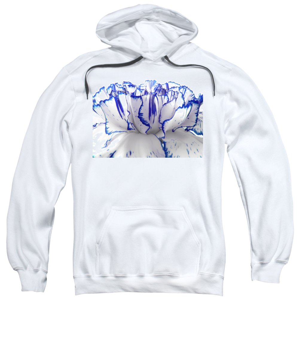 Carnation Sweatshirt featuring the photograph Carnation by Daniel Csoka
