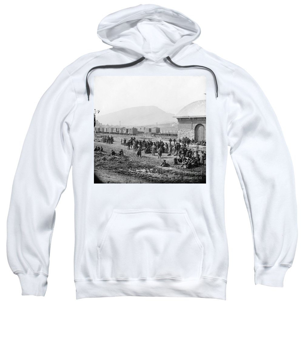 1864 Sweatshirt featuring the photograph Civil War: Prisoners, 1864 by Granger