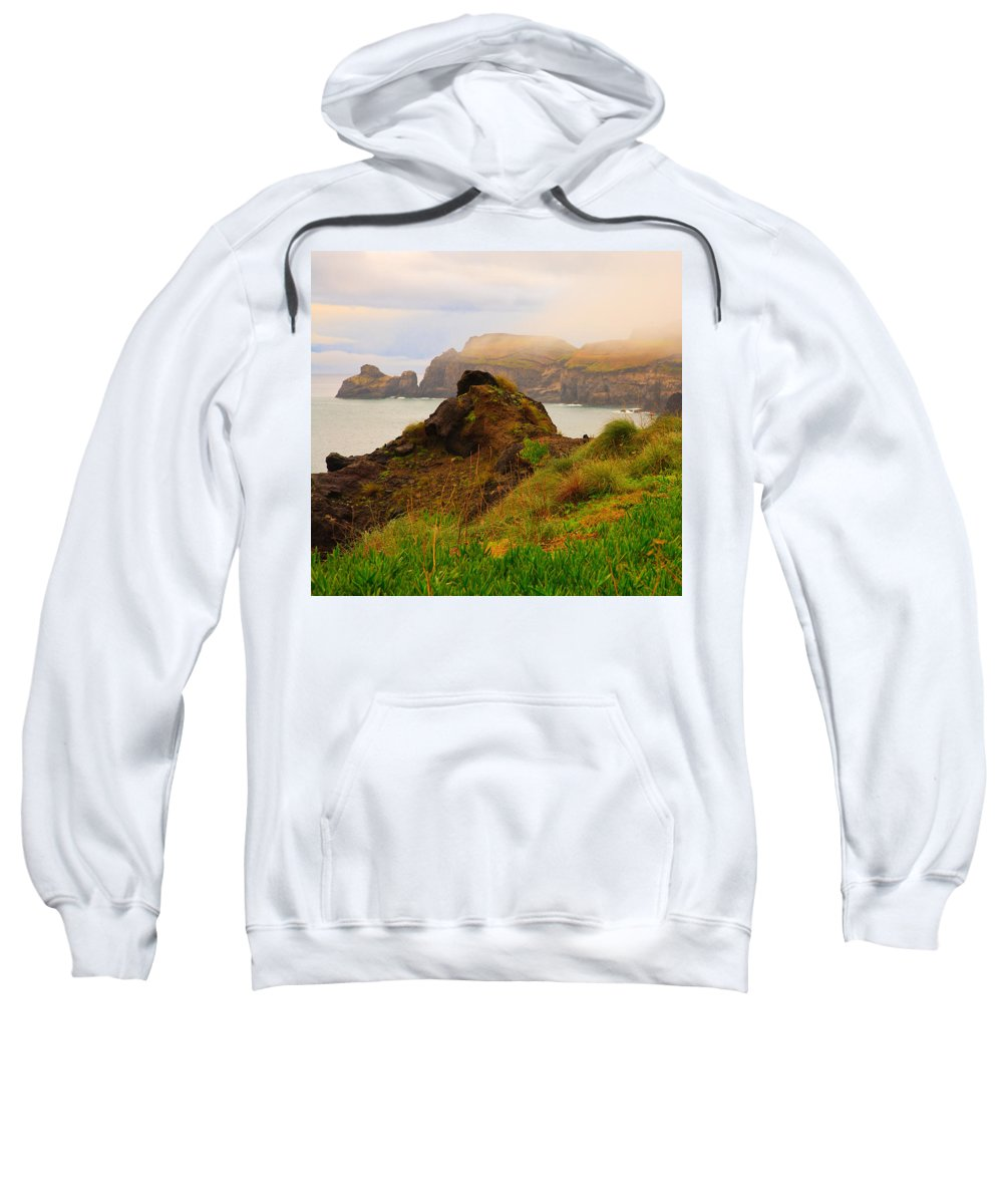 Fog Sweatshirt featuring the photograph Coastal Landscape by Gaspar Avila