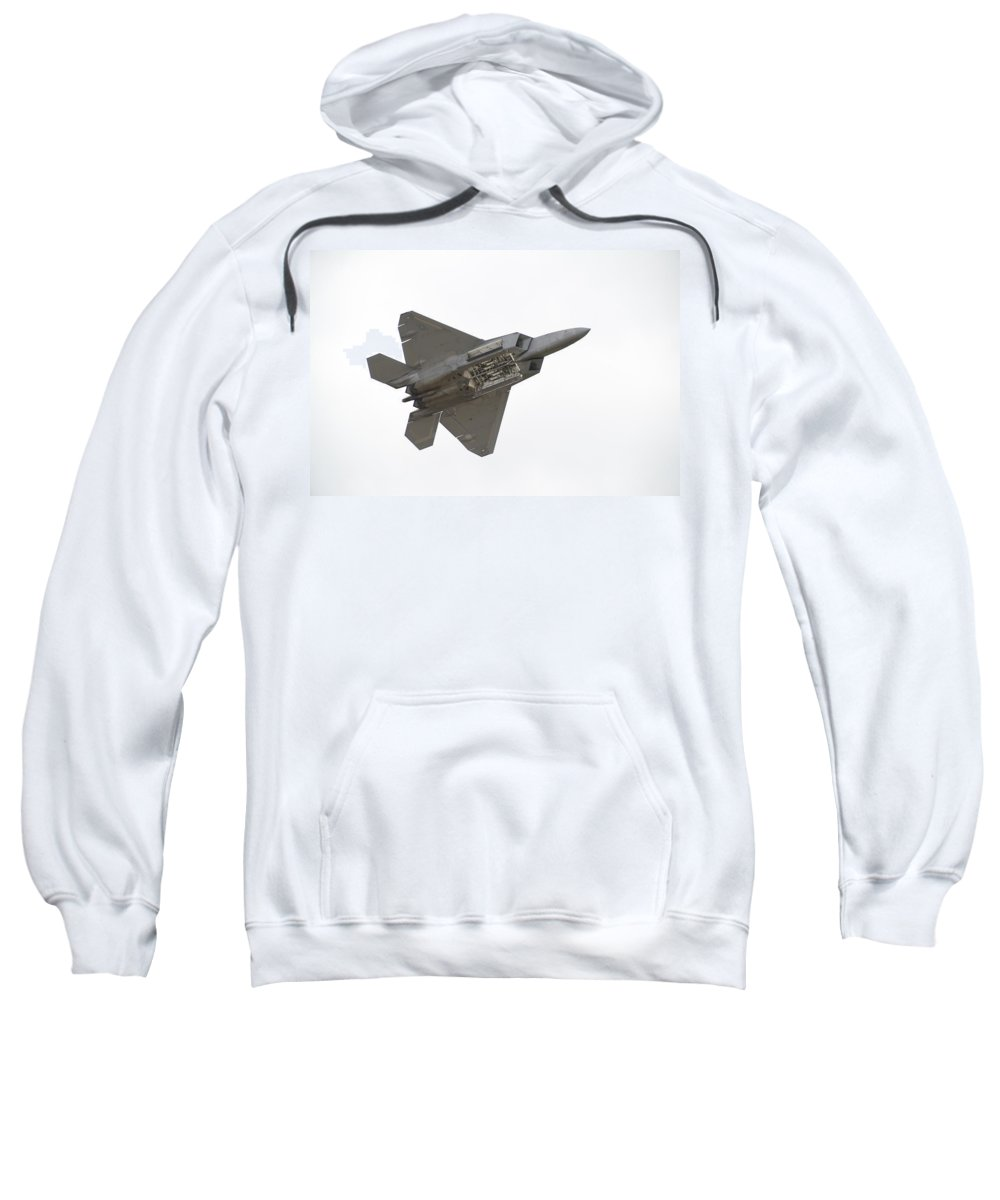 Airplane Sweatshirt featuring the photograph F-22 Raptor by Sebastian Musial
