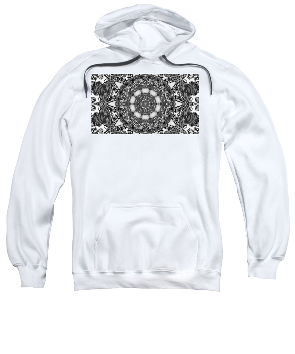 Digital Art Sweatshirt featuring the digital art Fractal by Belinda Cox