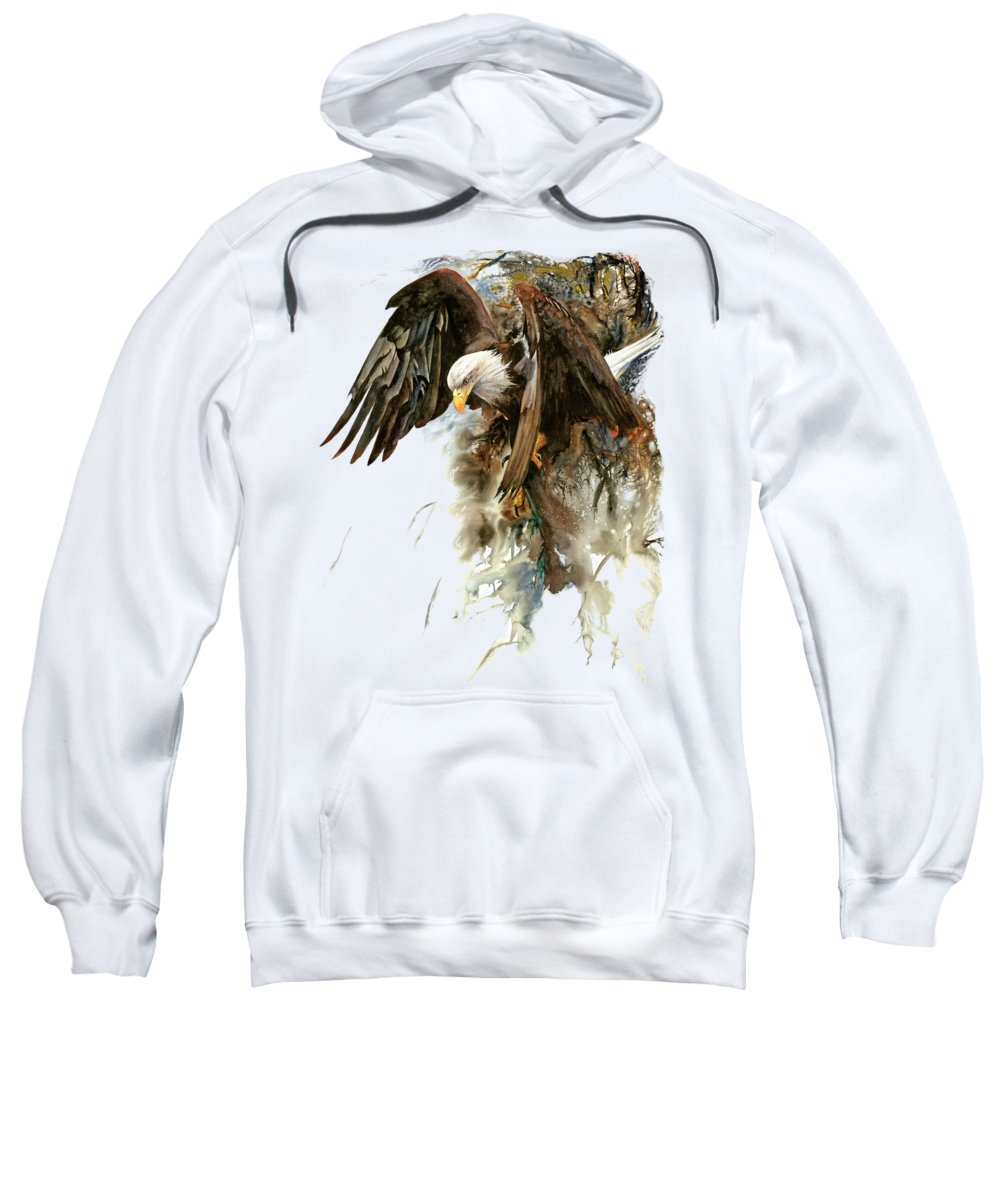 Eagle Sweatshirt featuring the painting High And Mighty by Peter Williams