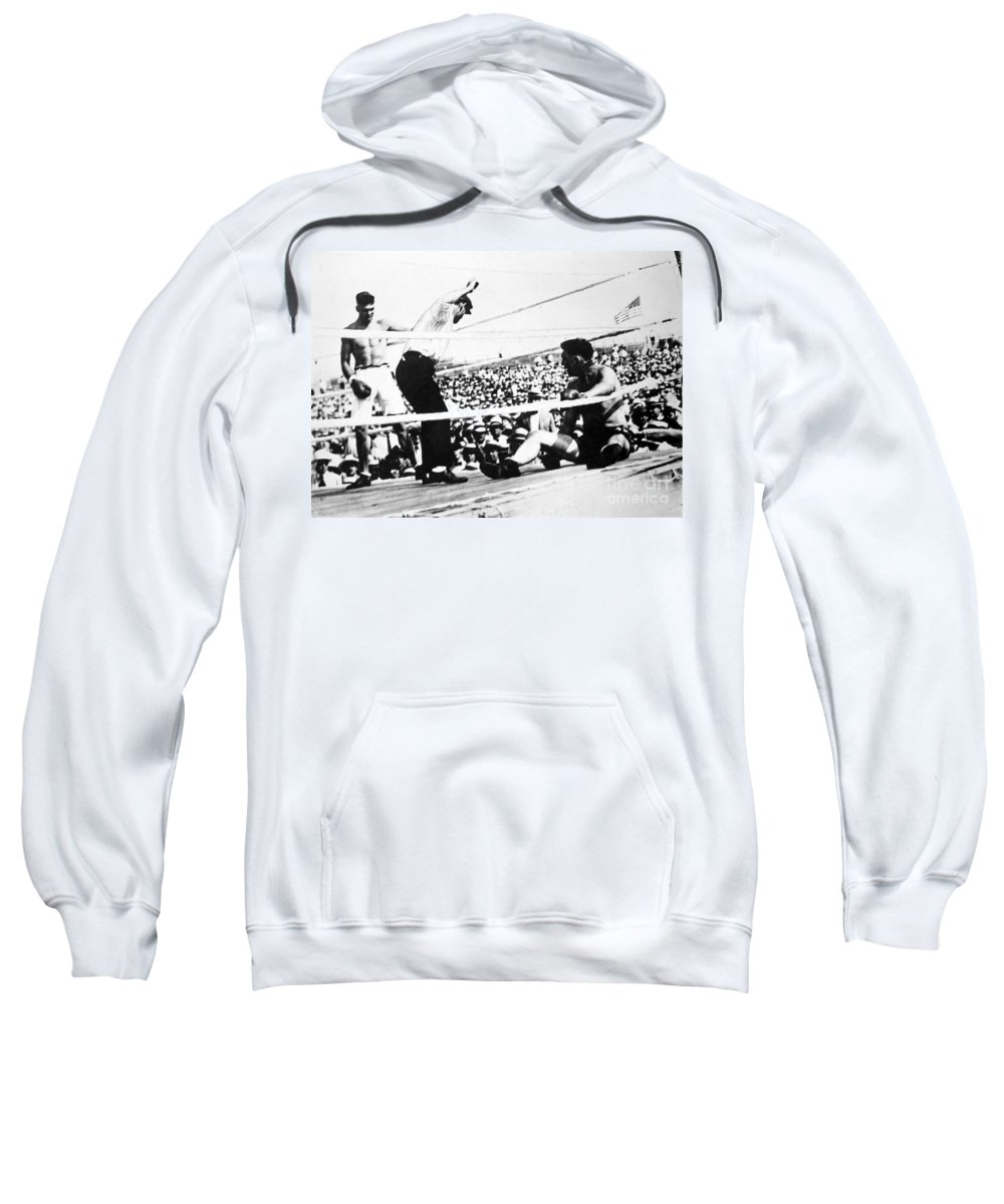 1919 Sweatshirt featuring the photograph Jack Dempsey (1895-1983) by Granger