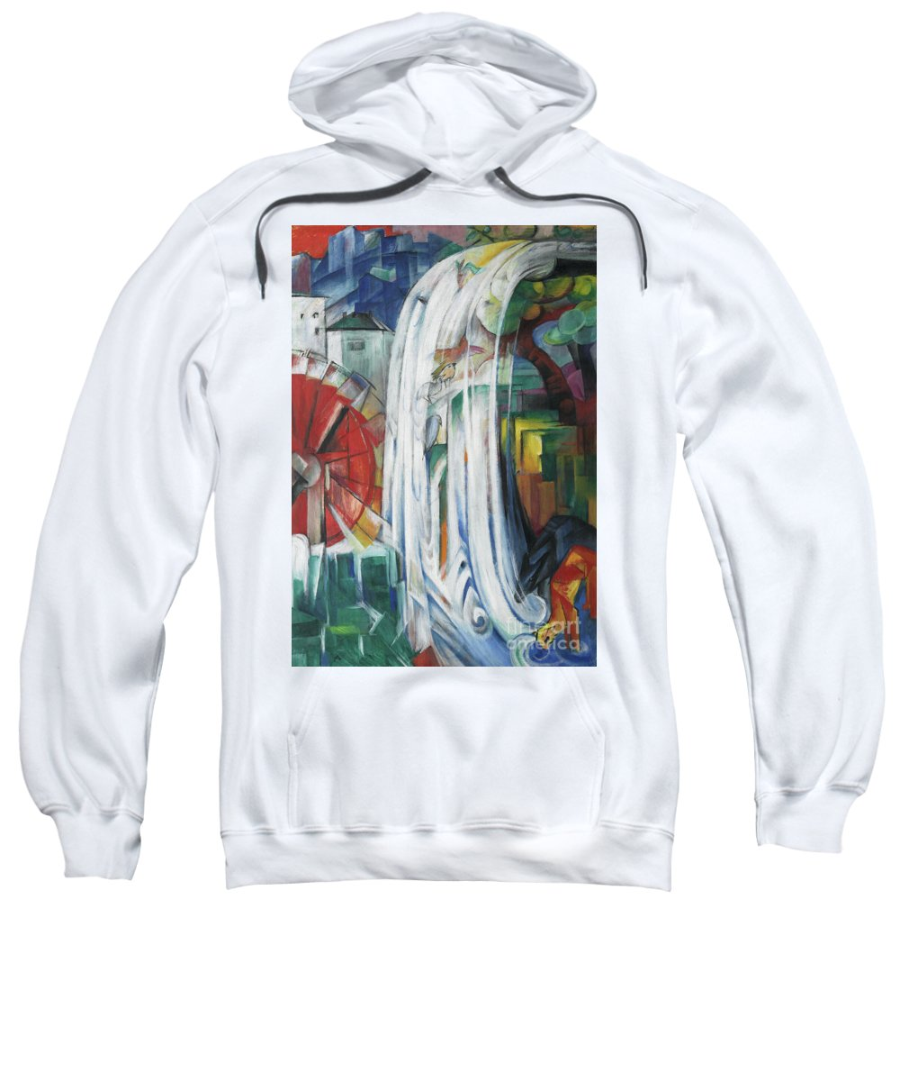 Marc Sweatshirt featuring the painting The Bewitched Mill by Franz Marc