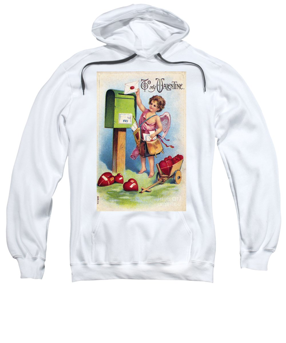 1909 Sweatshirt featuring the photograph Valentines Day Card by Granger