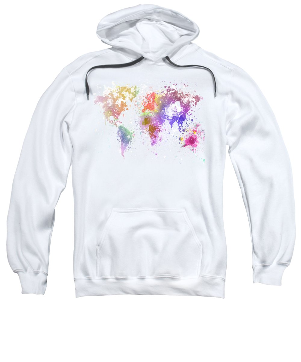 World Map Sweater.World Map Painting Adult Pull Over Hoodie For Sale By Setsiri