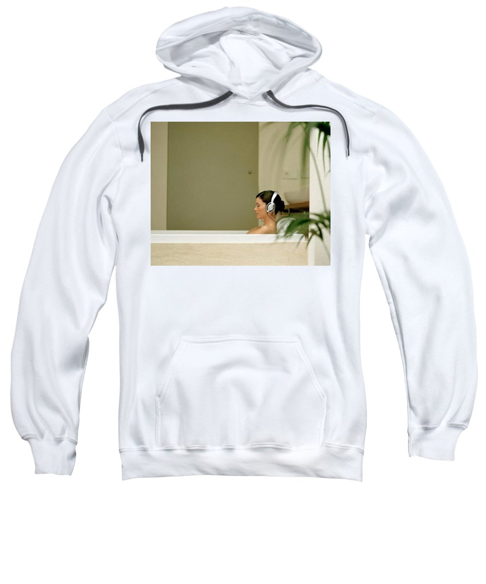 Headphones Sweatshirt featuring the digital art Headphones by Mery Moon