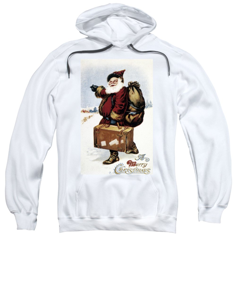 19th Century Sweatshirt featuring the photograph American Christmas Card by Granger