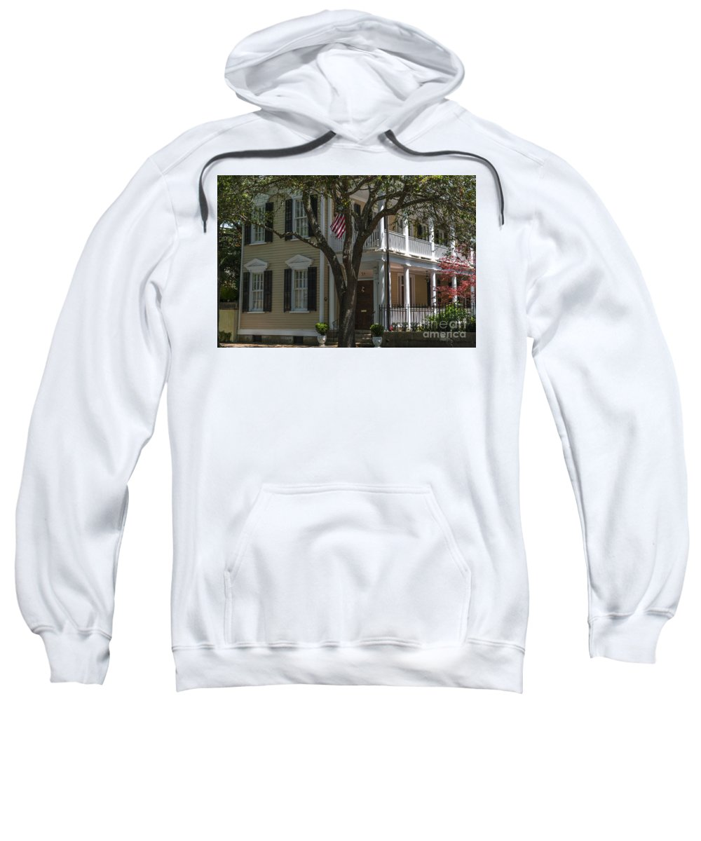 38 Meeting Street Sweatshirt featuring the photograph 38 Meeting Street by Dale Powell