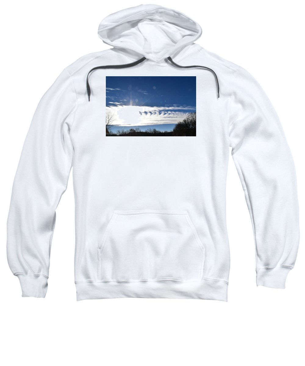Sky Sweatshirt featuring the photograph Clouds by Diane Hester