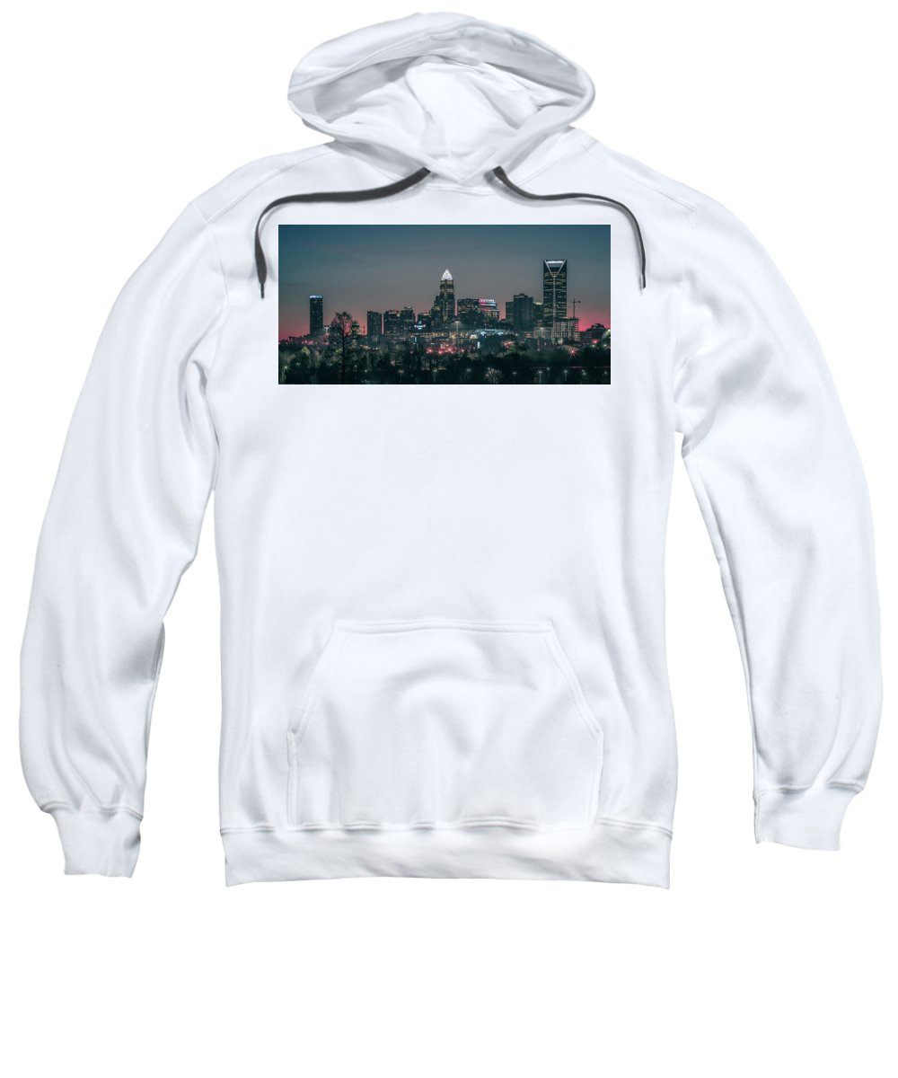 Charlotte Sweatshirt featuring the photograph Early Morning In Charlotte Ncorth Carolina January 2018 by Alex Grichenko